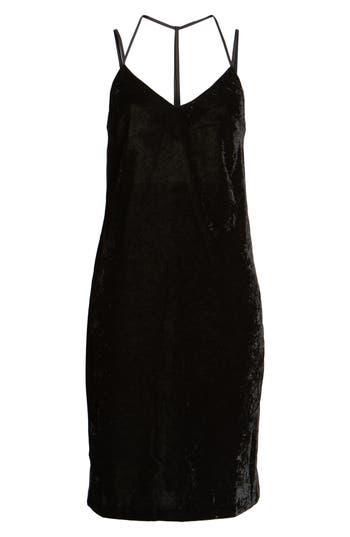 Splendid Crushed Velvet Slipdress, Black