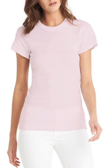 Michael Stars Basic Band Crew Tee, Size One Size - Pink