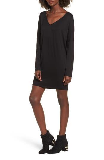 Bp. V-Neck Dress, Black