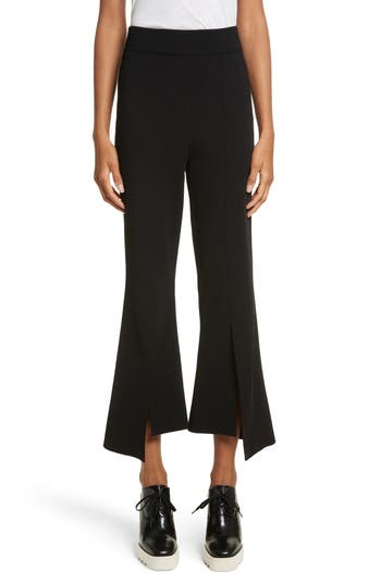 Stella Mccartney Compact Knit Crop Flare Pants, 4 IT - Black