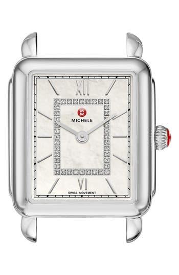 Women's Michele Deco Ii Mid Diamond Watch Head, 25Mm X 30Mm
