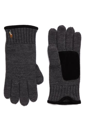 Polo Ralph Lauren Classic Luxe Merino Wool Gloves, Size One Size - Grey