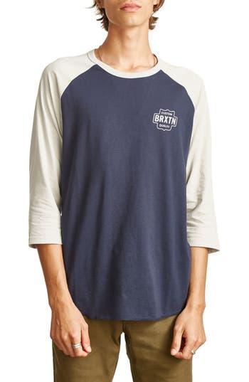 Brixton Garth Baseball T-Shirt, Blue
