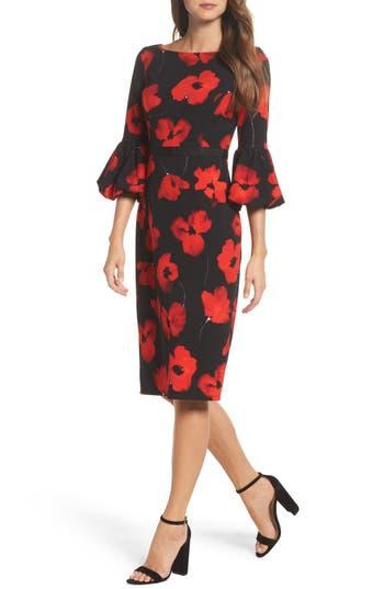 Maggy London Scuba Crepe Sheath Dress, Red
