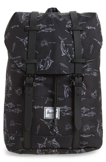 Boys Herschel Supply Co Retreat Fish Print Backpack