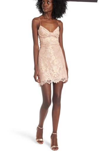 For Love & Lemons Bumble Bustier Slipdress, Pink