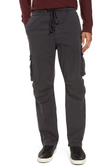James Perse Stretch Poplin Cargo Pants, Grey