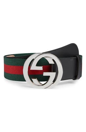 Gucci Logo Buckle Interlock Belt