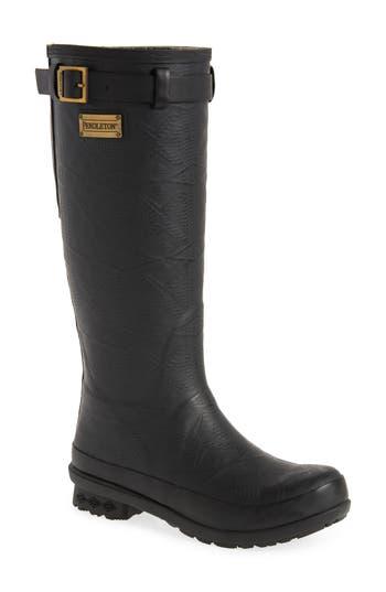 Pendleton Embossed Tall Waterproof Rain Boot