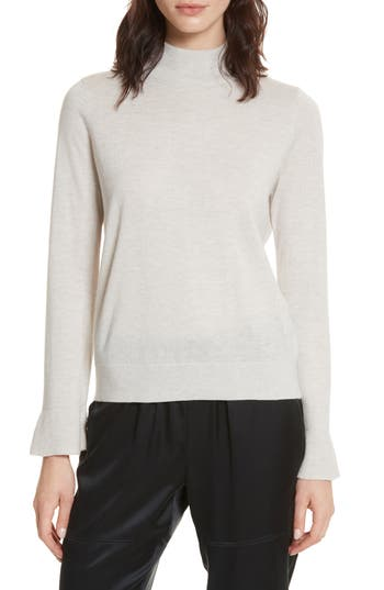 Joie Deryn Wool & Silk Sweater, Grey