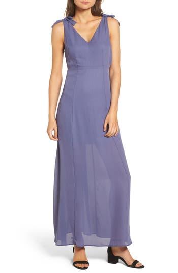 Dee Elly Tie Strap Maxi Dress, Grey