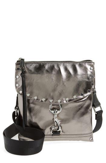 Rebecca Minkoff Nylon Flap Crossbody Bag - Metallic at NORDSTROM.com