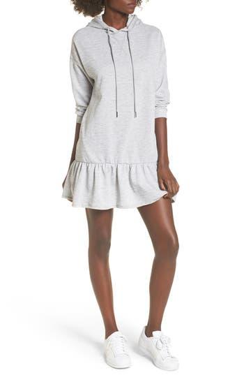 Bp. Drop Waist Sweatshirt Dress, Grey