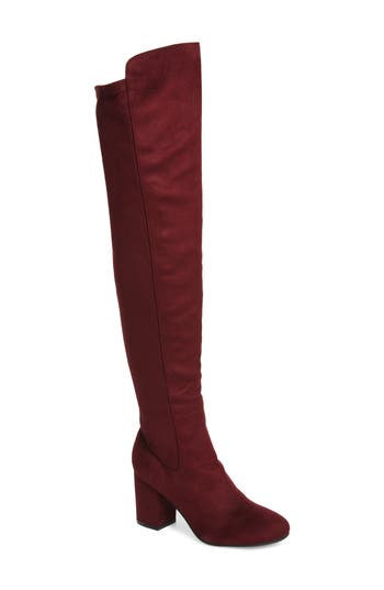 Treasure & Bond Lynx Stretch Over The Knee Boot, Burgundy