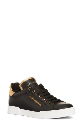 Dolce & gabbana Logo Embellished Sneaker, Black