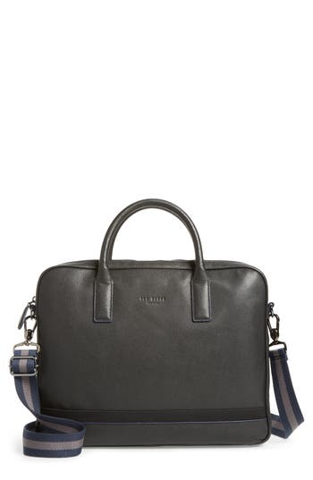 Ted Baker London Lowmee Leather Briefcase - Black
