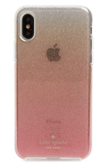 kate spade new york ombré glitter iPhone X/Xs case