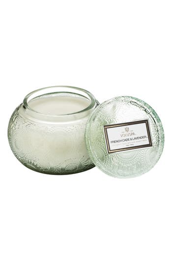 Voluspa Embossed Glass Chawan Bowl Candle, Size One Size - Green