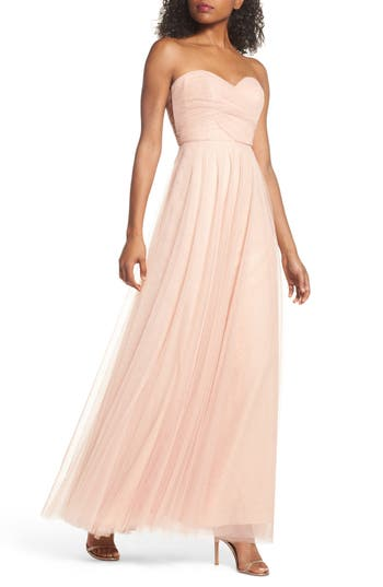 Jenny Yoo Julia Convertible Soft Tulle Gown, Pink