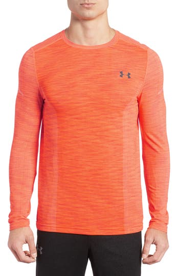Men's Under Armour Threadborne Fitted Training T-Shirt, Size Small - Orange