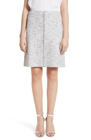 Women's St. John Collection Tweed Skirt, Size 4 - Grey