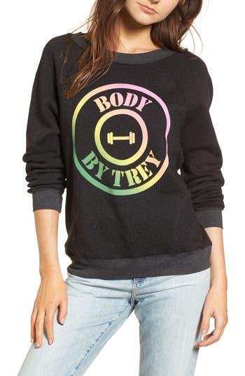 Women's Wildfox Body By Trey - Sommers Sweatshirt, Size X-Small - Black