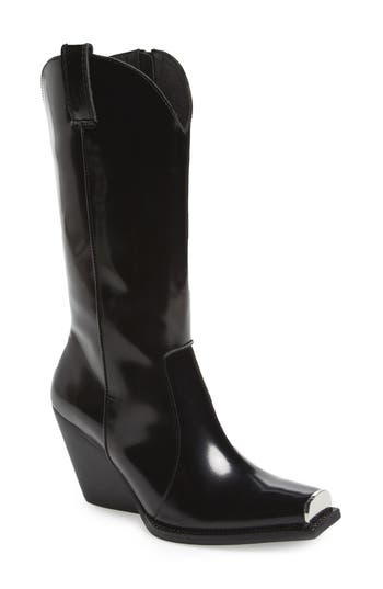 Jeffrey Campbell Overkill Western Boot, Black