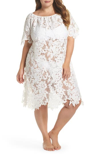 Plus Size Muche Et Muchette Ode Lace Cover-Up Dress, Size One Size - White