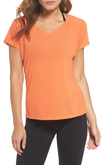 Women's Zella Fly Mode Tee, Size X-Small - Orange