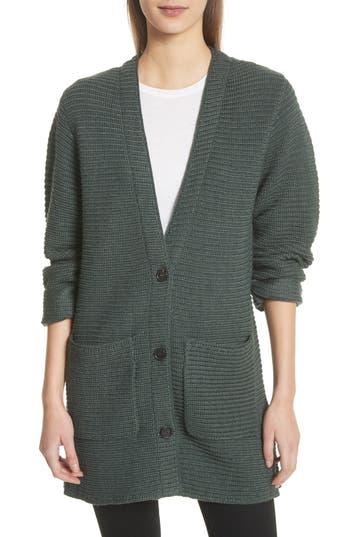 Public School Fleta Merino Wool Blend Cardigan, Green