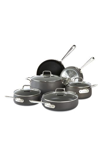 All-Clad Hard Anodized 10-Piece Nonstick Cookware Set, Size One Size - Metallic