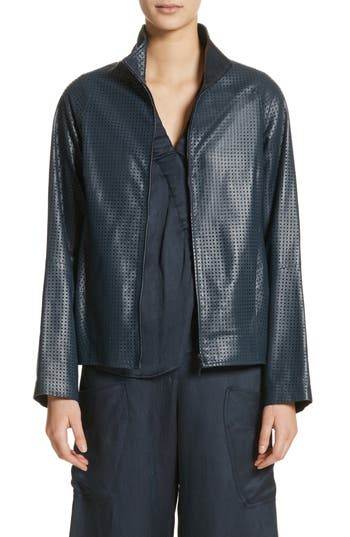 PERFORATED NAPPA LEATHER JACKET