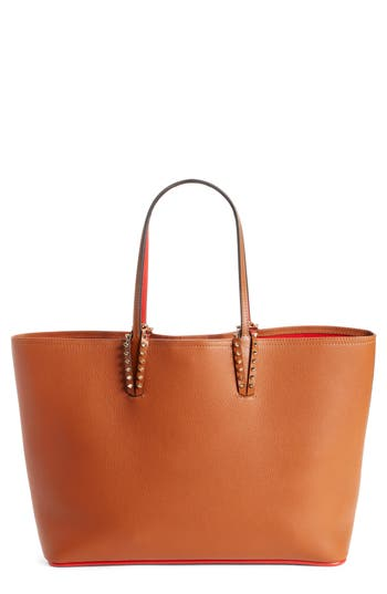 Christian Louboutin Cabata Calfskin Leather Tote - Brown at NORDSTROM.com