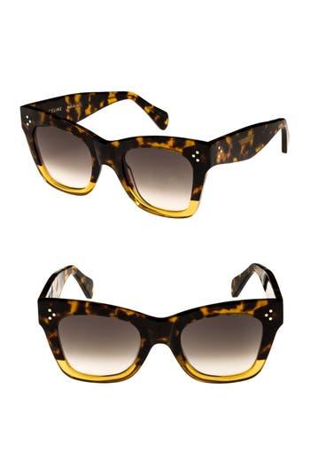 Celine 50Mm Gradient Butterfly Sunglasses - Havana/ Yellow