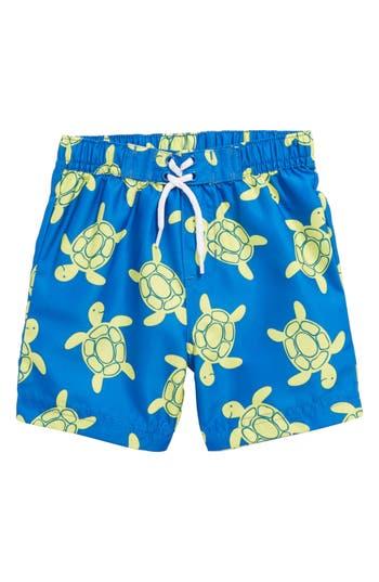 Infant Boys Little Me Turtle Upf 50 Swim Trunks