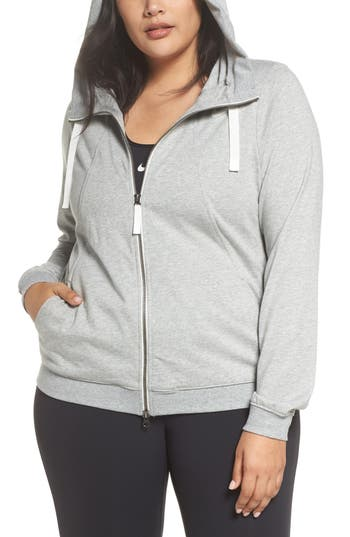 Plus Size Nike Gym Zip Hoodie, Grey