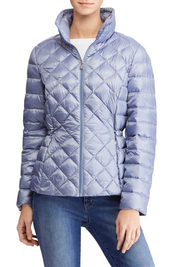 Lauren Ralph Lauren Packable Quilted Down Jacket, Blue