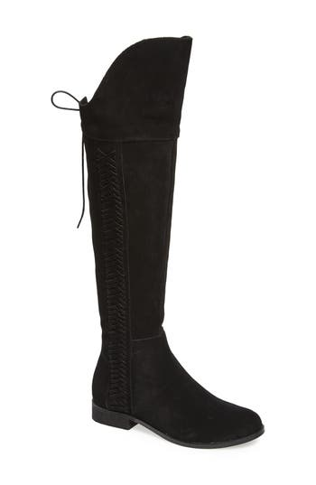 Sbicca Spokane Woven Over The Knee Boot, Black