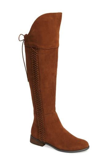 Sbicca Spokane Woven Over The Knee Boot B - Brown