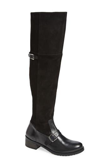 Matisse Lola Over The Knee Boot, Regular Calf- Black