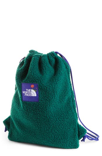 The North Face Ok Fuzzy Sack Pack Drawstring Bag - Green