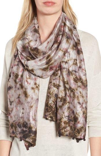Women's Eileen Fisher Print Silk Scarf, Size One Size - Grey