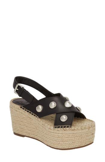 Marc Fisher Ltd Rella Espadrille Platform Sandal, Black