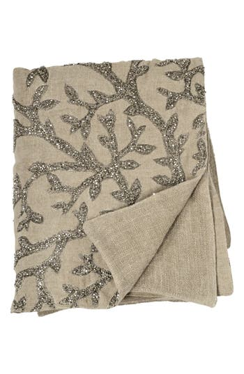 Michael Aram Tree Of Life Beaded Throw, Size One Size - Beige