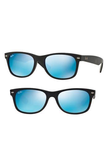 Ray-Ban New Wayfarer Classic 52Mm Sunglasses - Black/ Blue