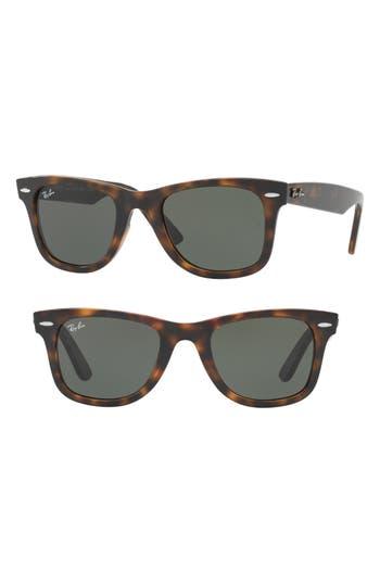 Ray-Ban Wayfarer Ease 50Mm Sunglasses - Light Havana