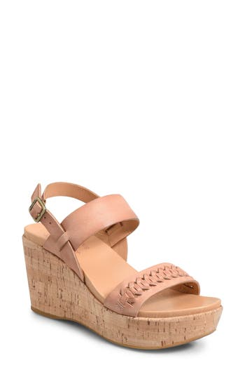 Kork-Ease Austin Braid Wedge Sandal, Pink