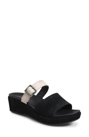 Kork-Ease Bisti Wedge Slide Sandal, Black