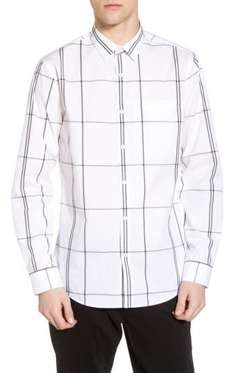 Calibrate Windowpane Sport Shirt, White