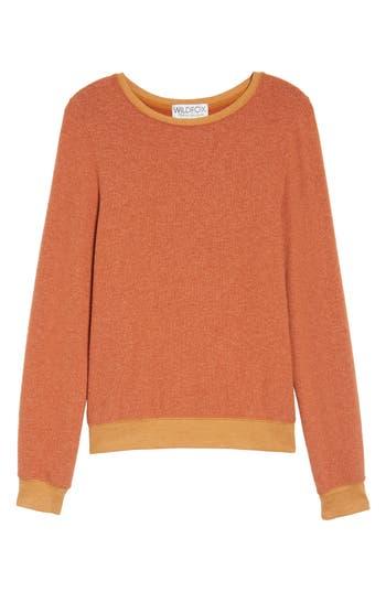 Women's Wildfox 'Baggy Beach Jumper' Pullover, Size XX-Small - Orange
